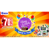 EMIN VIETNAM 8TH BIRTHDAY: SALE OFF WITHOUT PROFIT